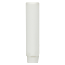 1/4 oz. White MDPE Lotion Tube with Flat Cap