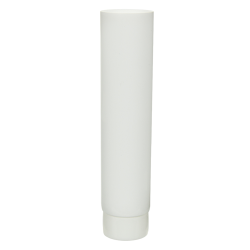 1 oz. White MDPE Lotion Tube with Flat Cap