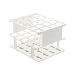 White 20mm Tube Size, 128 x 103 x 83, Array is 4 x 5 Nalgene™ Uniwire™ Half-Rack