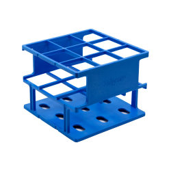 Blue 30 mm Tube Size  109 x 109x 84Array is 3 x 3 Nalgene™ Uniwire™ Half-Rack
