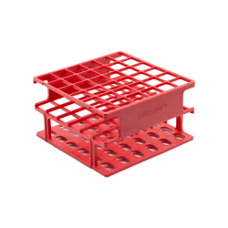 Red 13mm Tube Size, 102 x 102 x 56, Array is 6 x 6 Nalgene™ Uniwire™ Half-Rack