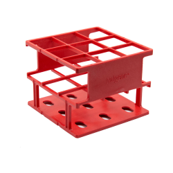 Red 30 mm Tube Size  109 x 109x 84Array is 3 x 3 Nalgene™ Uniwire™ Half-Rack