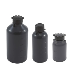 Graduated Gray LDPE Bottles with Caps