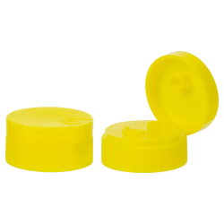"28/400 Yellow Ribbed Snap-Top Cap with .25"" Orifice"