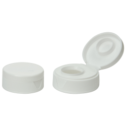 "38/400 White Ribbed Snap-Top Cap with .5"" Orifice"