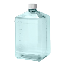 5 Liter Sterile Square Nalgene™ PC Biotainer™ Bottle
