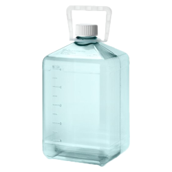 10 Liter Sterile Square Nalgene™ PC Biotainer™ Bottle with Handle