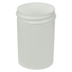 1 oz. White Polypropylene Straight Sided Jar with 38/400 Neck (Cap Sold Separately)