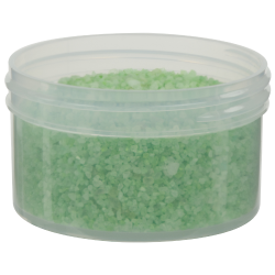 6 oz. Clarified Polypropylene Straight Sided Jar with 89/400 Neck (Cap Sold Separately)