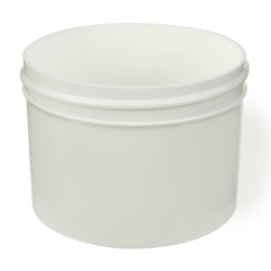 8 oz. White Polypropylene Straight Sided Jar with 89/400 Neck (Cap Sold Separately)