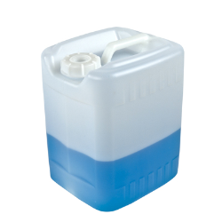 2-1/2 Gallon Level 5 Fluorinated Tight Head Container