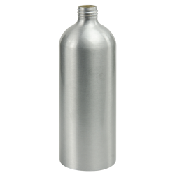 16 oz. Brushed Aluminum Bottle with 24/410 Neck (Cap, Sprayer & Pump Sold Separately)