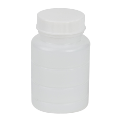 3 oz. HDPE Bottle with Clear TE Band