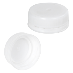 38mm ISS White LDPE Tamper Evident Screw Cap