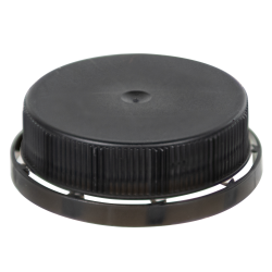Black 38mm Single Thread Cap