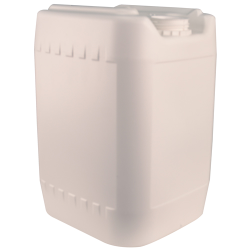 White 20 Liter Baritainer® Jerrican w/70mm Neck (Cap Sold Separately)