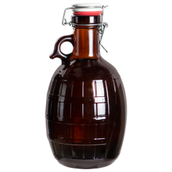 2L Growler Amber Barrel Bottle with Closure