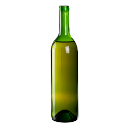 750mL Champagne Green Punt Bottom Glass Bottle with Cork Neck