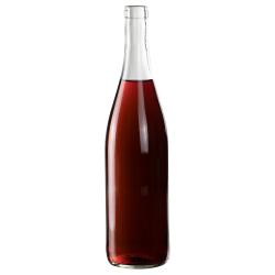 750mL Clear Glass Flat Bottom Bottle w/ Cork Neck