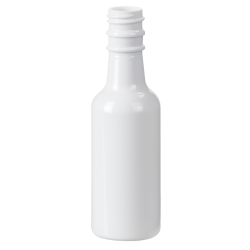 1.7 oz. White PET Round Sauce Bottle with 18mm Neck (Cap Sold Separately)