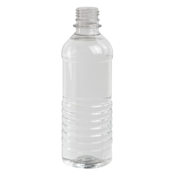 12 oz. Clear PET Tall Water Bottle with 28mm PCO Neck (Cap Sold Separately)