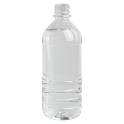 20 oz. Clear PET Water Bottle with 28mm PCO Neck (Cap Sold Separately)