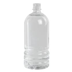 33.81 oz. Clear PET Water Bottle with 28mm PCO Neck