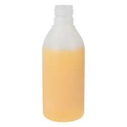 200mL Natural Tall Round HDPE Bottle with 24/415 Neck (Cap Sold Separately)