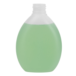 200mL Natural Pluto Oval HDPE Bottle with 24/410 Neck (Cap Sold Separately)