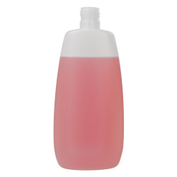 300mL Natural Flat Oval HDPE Bottle with 24/415 Neck (Cap Sold Separately)