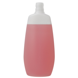 400mL Natural Flat Oval HDPE Bottle with 24/415 Neck (Cap Sold Separately)
