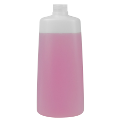 350mL Natural Lisbon Oblong HDPE Bottle with 24/410 Neck (Cap Sold Separately)
