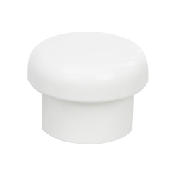 20/415 White Polypropylene Mushroom Cap with Bore Seal