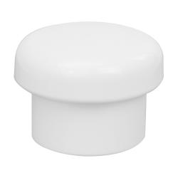 24/415 White Polypropylene Mushroom Cap with Bore Seal