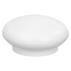 24/410 White Polypropylene Pebble Cap with Bore Seal