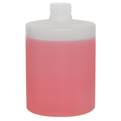 300mL Midi Natural HDPE Tubular Bottle with 24/410 Neck (Cap Sold Separately)
