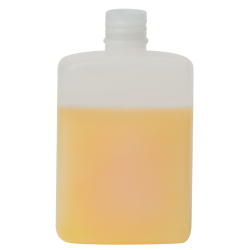 100mL Natural HDPE Rectangular Bottle with Round Shoulders & 20/415 Neck (Cap Sold Separately)