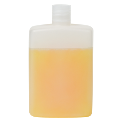 125mL Natural HDPE Rectangular Bottle with Round Shoulders & 20/415 Neck (Cap Sold Separately)