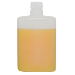 200mL Natural HDPE Rectangular Bottle with Round Shoulders & 24/415 Neck (Cap Sold Separately)
