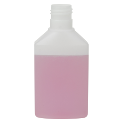 125mL Natural HDPE Daily Flat Oval Bottle with 24/415 Neck (Cap Sold Separately)