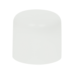 24mm White Large Domed Double Wall Polypropylene Cap with Bore Seal