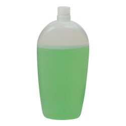 500mL Natural Almond Oval HDPE Bottle with 24/415 Neck (Cap Sold Separately)