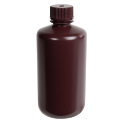 250mL Diamond® RealSeal™ Amber Narrow Mouth Bottle with 24mm Cap