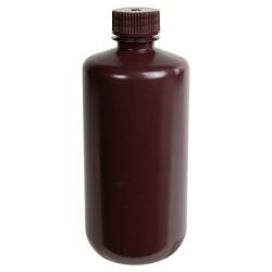 500mL Diamond® RealSeal™ Amber Narrow Mouth Bottle with 28mm Cap