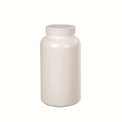 1 oz./30cc White Wide Mouth Packer with 33/400 Plain Cap