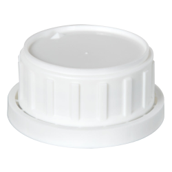 White Tamper Evident Cap with Foam/PTFE Liner for Chem50 Bottle