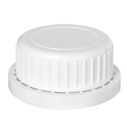 White Cap with Foam/PTFE Liner for Type 62 Bottle
