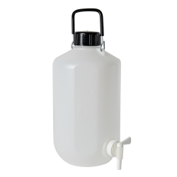 5L Narrow Mouth HDPE Hexagonal Carboy with Stopcock