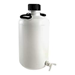 25 Liter Azlon® Narrow Mouth HDPE Round Carboy with Stopcock