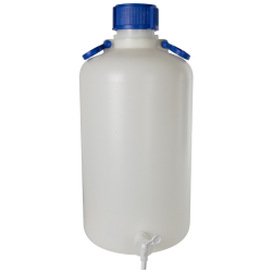 25 Liter Kartell Heavy Walled Narrow Mouth HDPE Carboy with Spigot
